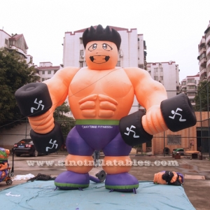 advertising inflatable fitness muscle man