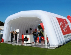 white trade show inflatable music tent