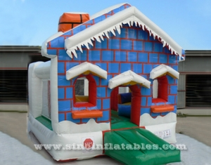 small frozen house inflatable bouncy castle