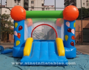 toddler mini inflatable bouncer with basketball ring inside