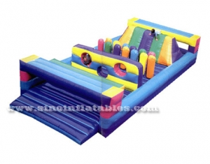 Outdoor kids inflatable obstacle game