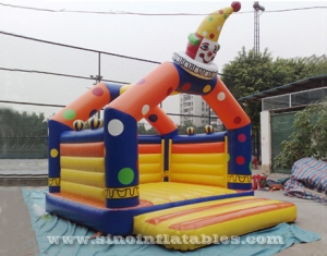 kids party clown inflatable bouncy castle