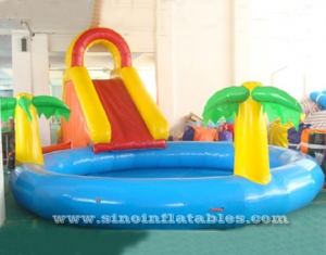 Commercial grade indoor kids jungle inflatable pool slide