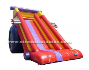 super rocket truck inflatable slide for kids n adults