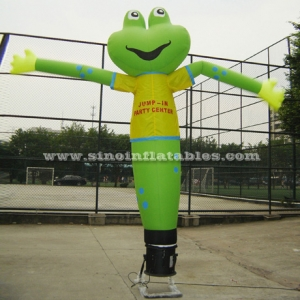green frog advertising inflatable dancing man