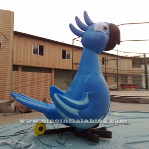 advertising blue large inflatable parrot