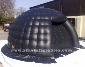 small black bubble inflatable igloo tent