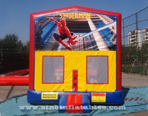 kids party spiderman module inflatable bounce house