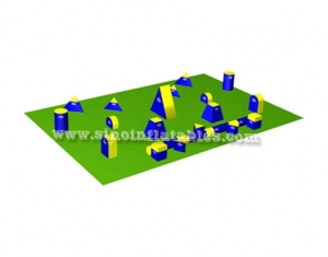 Giant commercial barrier inflatable paintball bunkers