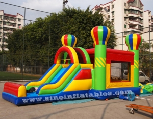 5in1 rainbow big inflatable combo bounce house