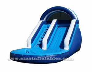 ocean blue kids inflatable water slide