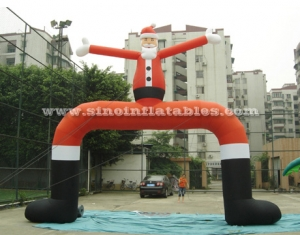big Santa Claus advertising inflatable arch