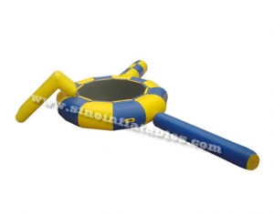 kids inflatable water trampoline with blob, slide N log