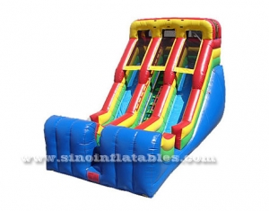 double lane giant inflatable slide