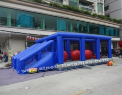 adults interactive inflatable assault course