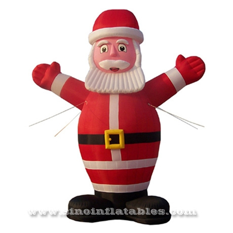 Custom Made Outdoor Advertising 3m High Inflatable Santa Claus For