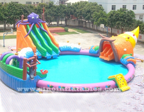 giant octopus kids N adults inflatable water park