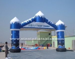 snow and ice inflatable arch