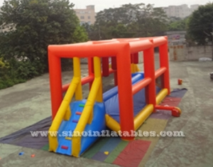 kids N adults inflatable balance obstacle course