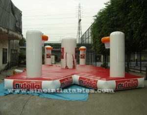 crossover inflatable interactive games with basketball hoops