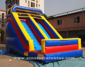 Toddler front load inflatable dry slide