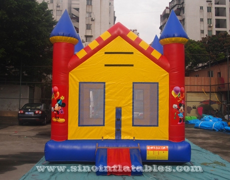 rainbow kids party Mickey mouse inflatable bouncer