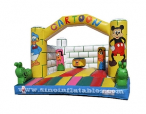 indoor disney cartoon kids bouncy castle