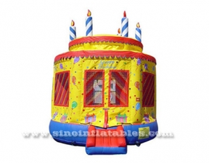 kids birthday cake inflatable bouncer
