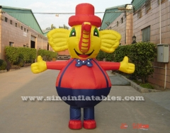 outdoor giant elephant inflatable moving carton