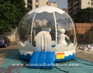 north pole snowman inflatable bouncy castle