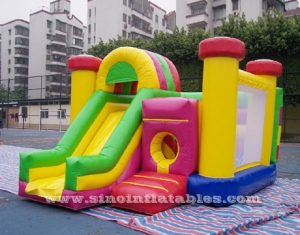 inflatable combo game with pillars inside