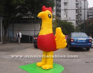 chicken advertising inflatable costume