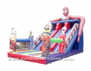 giant kids spiderman inflatable slide