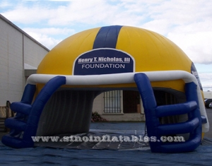NFL run through inflatable football helmet tunnel