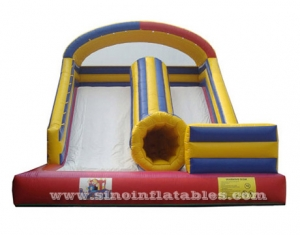 kids inflatable slide with tunnel