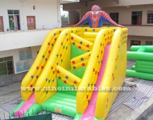 giant skyscraper spiderman inflatable slide
