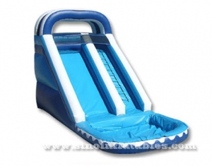 ocean theme kids inflatable water slide with pool