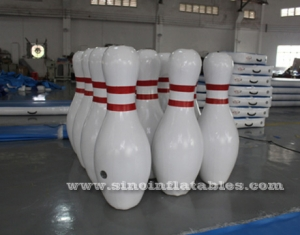 giant inflatable human bowling ball game