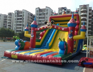 giant rain forest inflatable slide