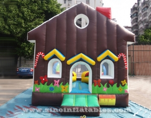 Cafe house kids inflatable bouncy castle