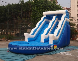Wave commercial inflatable water slide party for kids and adults