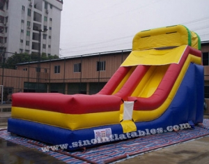 colorful inflatable slide