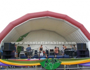 big stage inflatable music tent with custom logo
