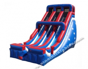 giant adults patriotic inflatable slide
