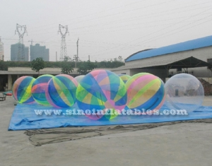 TPU inflatable water bubble ball walking on water