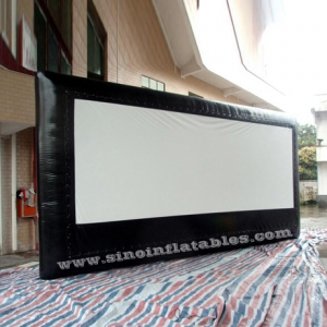 5 meters high advertising inflatable moving screen