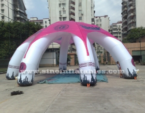 movable customized inflatable spider tent with logo