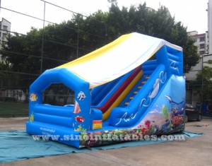 Kids sea world small inflatable slide