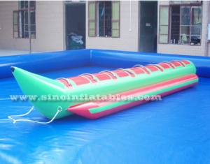 8 persons single row inflatable banana boat