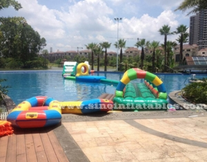 Outdoor or indoor boot camp inflatable water obstacle course
